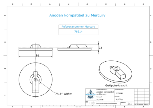 """Anodes compatible to Mercury 
