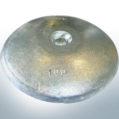 Anodes à disque Ø 100mm | trou de passage (AlZn5In) | 9801AL