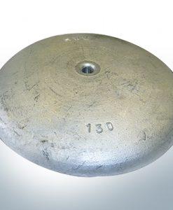 Anodes à disque Ø 130mm | M8 (AlZn5In) | 9814AL