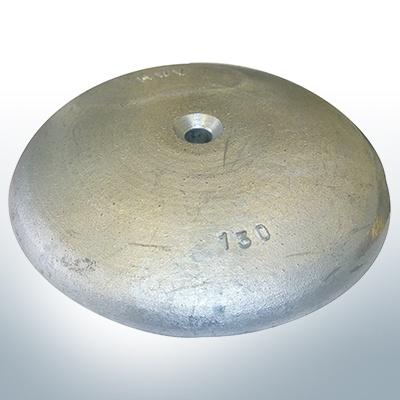 Anodes à disque Ø 130mm | trou de passage (AlZn5In) | 9815AL