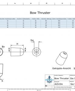 Bow-Thruster BP-1221 / SW17 (AlZn5In)   9613AL