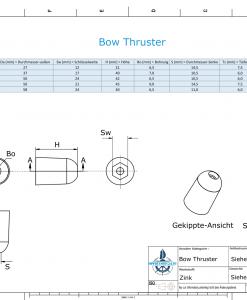Bow-Thruster BP-1221 / SW17 (Zinc) | 9613