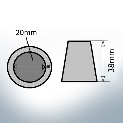 Shaftend-Anodes with carrier punch 20 mm (AlZn5In) | 9635AL