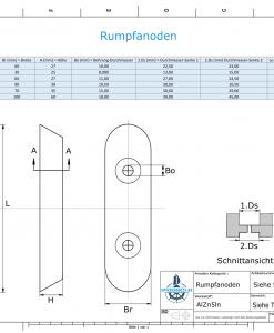 Block- and Ribbon-Anodes Block L300/200 (AlZn5In) | 9328AL
