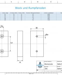 Block- and Ribbon-Anodes Block L120/75 (Zinc)   9314
