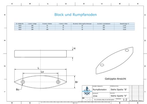 Block- and Ribbon-Anodes Block L300/200 (Zinc) | 9323