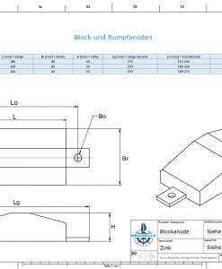 Block- and Ribbon-Anodes Flat-Anode L180/240 (Zinc) | 9342