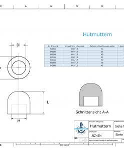 Nut-Caps M52x1,5 Ø75/H50 (AlZn5In)   9405AL