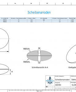 Disk-Anodes Ø 75mm | Bundle (AlZn5In) | 9805AL 9806AL