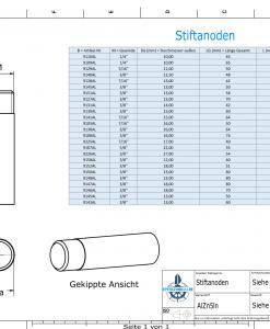 Bolt-Anodes 3/8'' inkl. Muffe Ø13/L45 (AlZn5In)   9151AL