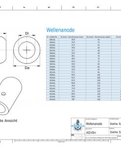 Shaft-Anode with metric inner diameter 100 mm (AlZn5In) | 9015AL