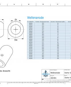 Shaft-Anodes with imperial inner diameter 2'' (AlZn5In) | 9020AL