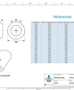 Shaft-Anode with metric inner diameter 75 mm (Zinc) | 9012