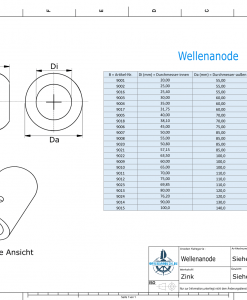 Shaft-Anode with metric inner diameter 100 mm (Zinc) | 9015