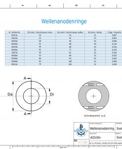 Shaft-Anode-Rings with metric inner diameter 70 mm (AlZn5In)   9041AL
