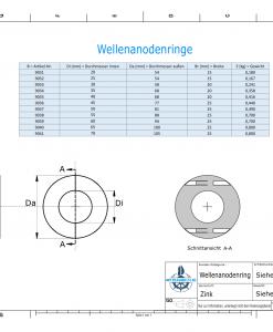 Shaft-Anode-Rings with metric inner diameter 45 mm (Zinc) | 9036