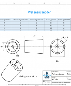 Shaftend-Anodes with hexagon socket SW36 (AlZn5In)   9420AL