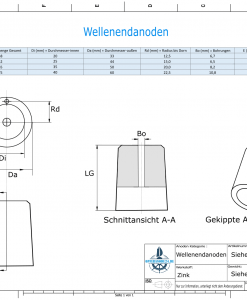 Shaftend-Anodes with carrier punch 25 mm (Zinc)   9636