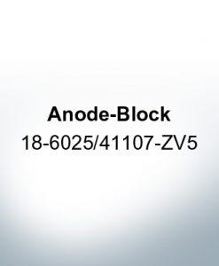 Anodes compatible to Honda   Anode-Block 18-6025/41107-ZV5 (Zinc)   9545