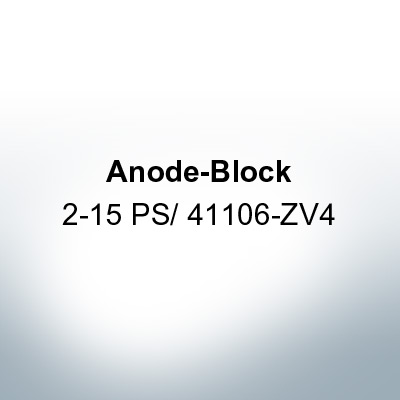 Anodes compatible to Honda | Anode-Block 2-15 PS/41106-ZV4 (AlZn5In) | 9546AL