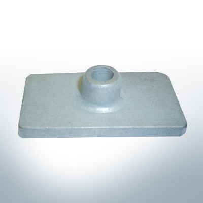 Anodes compatibles avec Mercury | Anode á Plaque 85824 (AlZn5In) | 9710AL