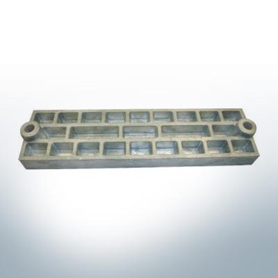 Anodes compatibles avec Mercury | Anode grille 43396 (zinc) | 9711