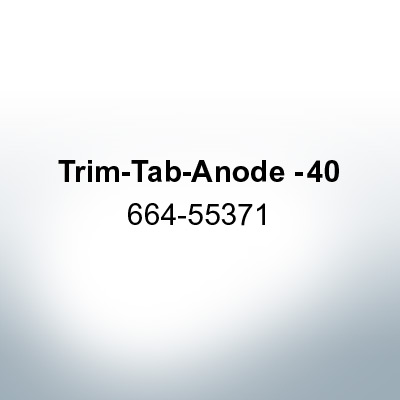 Anodes compatible to Mercury | Trim-Tab-Anode -40 664-55371 (Zinc) | 9716