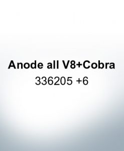 Anodes compatible to Mercury | Anode all V8 Cobra 336205 6 (AlZn5In) | 9534AL
