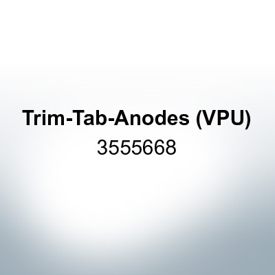 Anodes compatible to Volvo Penta   Trim-Tab-Anodes (VPU) 3555668 (Zinc)   9213