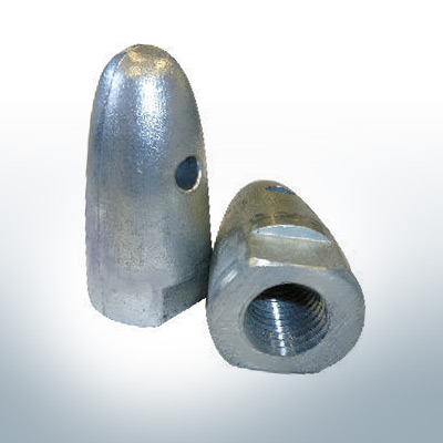 "Anodes compatible to Volvo Penta | Cap-Anode 7/8"" 833915 (AlZn5In) 