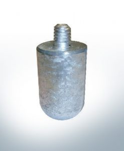 "Anodes compatible to Volvo Penta | Bolt-Anode 3/8"" 16G40mm 823661 (AlZn5In) 