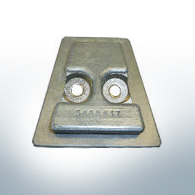 Anodes compatible to Volvo Penta   Stern-Anode 3888816A 17Z (Zinc)   9239