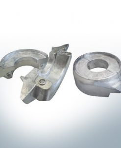 Anodes compatibles avec Volvo Penta | Anode annulaire 130/150 en deux parties 358407 | 3586963 | 3888305 (AlZn5In) | 9244AL