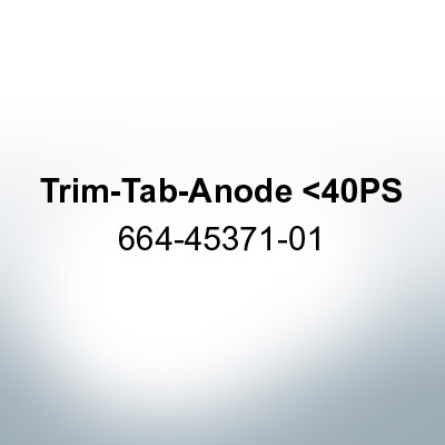 Anodes compatible to Yamaha and Yanmar | Trim-Tab-Anode <40PS 664-45371-01 (Zinc) | 9536