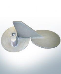 Anodes compatibles avec Yamaha and Yanmar | Anode à clapet 115 145 PS 6E5-45371-00 (AlZn5In) | 9539AL
