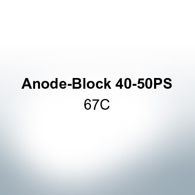 Anodes compatible to Yamaha and Yanmar | Anode-Block 40-50PS 67C (AlZn5In) | 9549AL