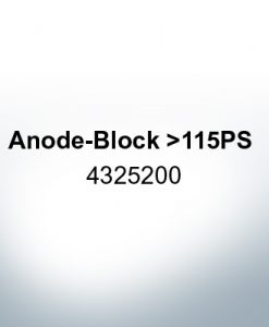 Anodes compatible to Yamaha and Yanmar | Anode-Block >115PS 4325200 (Zinc) | 9550