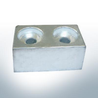 Anodes compatibles avec Yamaha and Yanmar | Anodes de bloc >115PS 4325200 (AlZn5In) | 9550AL