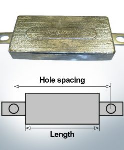 Anodes de bloc et de fuselage carrées L150/185 (AlZn5In) | 9300AL