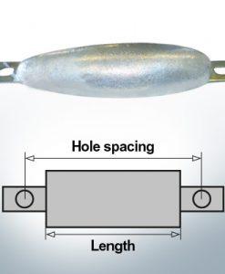 Anodes en bloc et de fuselage ovales L220/250 (Zinc) | 9306