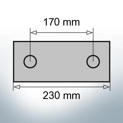 Block- and Ribbon-Anodes Block L230/170 (Zinc) | 9319