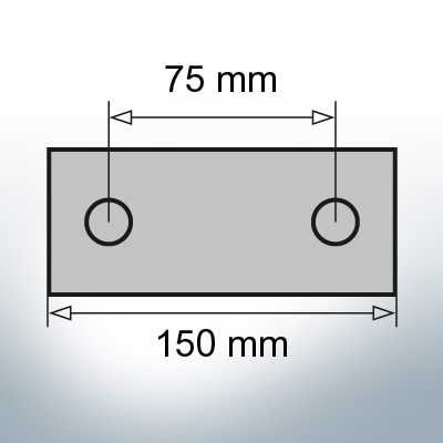 Block- and Ribbon-Anodes Block L150/75 (AlZn5In) | 9321AL