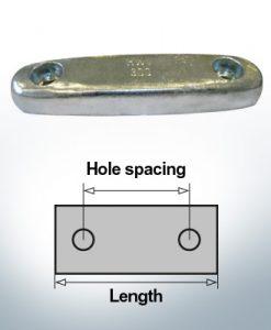 Bloc pour anodes en bloc et de fuselage L300/200 (Zinc) | 9323