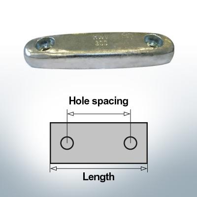 Bloc pour anodes en bloc et de fuselage L290/200 (AlZn5In)   9324AL