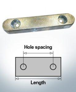 Bloc pour anodes en bloc et de fuselage L400/280 (Zinc) | 9329