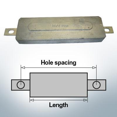 Anodes de bloc et de fuselage carrées L270/295 (AlZn5In) | 9331AL