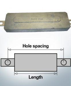Anodes de bloc et de fuselage carrées L270/295 (Zinc) | 9331