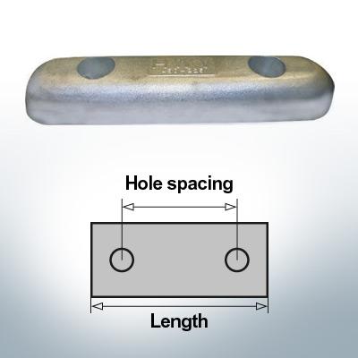 Bloc pour anodes en bloc et de fuselage L350/200 (Zinc) | 9343