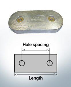 Bloc pour anodes en bloc et de fuselage L83/58 (Zinc) | 9346