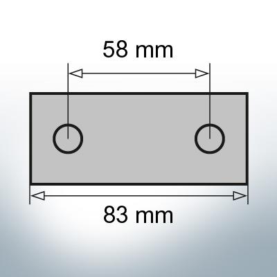 Block- and Ribbon-Anodes Block L83/58 (Zinc) | 9346